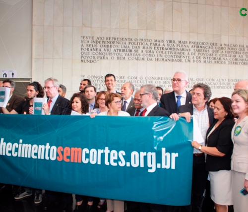 """Confies participa da campanha """"Conhecimento sem Cortes"""""""