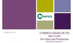 Confies estimula palestras sobre o Marco Legal