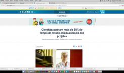 CIENTISTAS GASTAM MAIS DE 30% DO TEMPO DE ESTUDO COM BUROCRACIA DOS PROJETOS