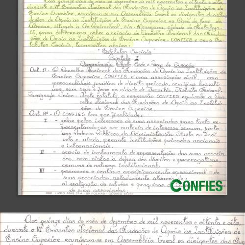 Ata de fundação do CONFIES – 15/12/1988